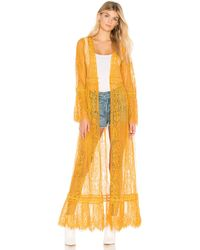 Band Of Gypsies - Lace Bell Sleeve Duster - Lyst