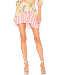 For Love & Lemons - Antigua Skirt In Pink - Lyst