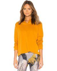 Maaji - Hooded Sweatshirt In Mustard - Lyst