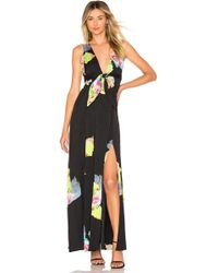 Cynthia Rowley - Aurora Maxi Dress In Black - Lyst