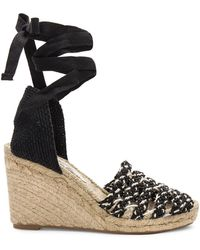 Free People - Amalfi Coast Wedge In Black - Lyst