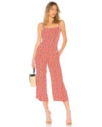 Faithfull The Brand - X Revolve Playa Jumpsuit In Red - Lyst