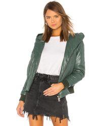 NSF - Avery Puffer Jacket In Green - Lyst