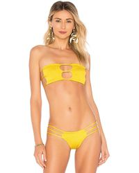 Indah - Moto Bandeau Top In Yellow - Lyst