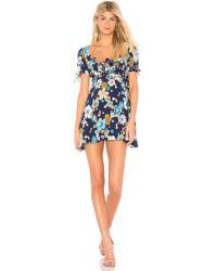 For Love & Lemons - Magnolia Mini Dress In Navy - Lyst
