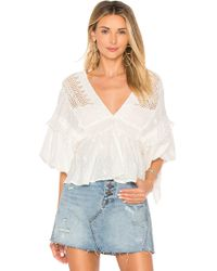 Free People - Drive You Mad Blouse - Lyst