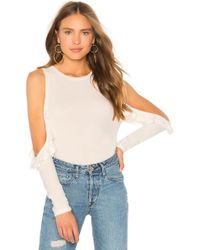 Generation Love - Brielle Ruffle Top In White - Lyst
