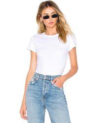 RE/DONE - 1960s Slim Tee Bodysuit - Lyst