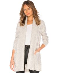 Tularosa - Trento Cardigan In Light Gray - Lyst