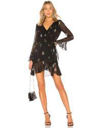 Cynthia Rowley - Malibu Wrap Dress In Black - Lyst