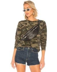 Bobi - Textured Camo Pullover In Olive - Lyst