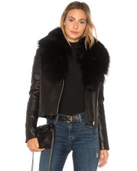 Mackage - Yoana Leather Jacket With Raccoon Fur In Black - Lyst