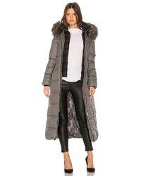 SOIA & KYO - Mariana Long Puffer Coat In Gray - Lyst