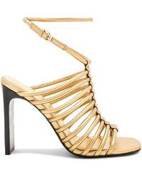 Sigerson Morrison - Ilyssa Heel In Metallic Gold - Lyst