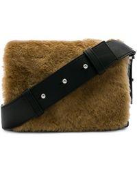AllSaints - Versailles Lea Fur Shoulder Bag In Black. - Lyst