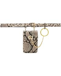 B-Low The Belt - Ari Python Belt Bag - Lyst