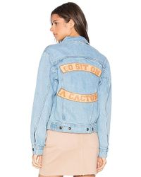 Urban Outfitters - Go Sit On A Cactus Denim Jacket - Lyst