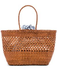 Loeffler Randall - Edith Woven Leather Mini Tote In Brown. - Lyst