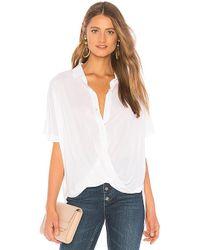 BCBGeneration - Wrap Hem Dolman Sleeve Shirt In White - Lyst