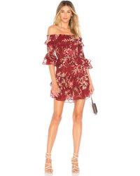 MISA - Rima Dress In Wine - Lyst