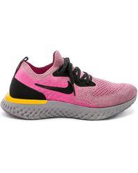 Nike - Epic React Flyknit Sneaker In Pink - Lyst