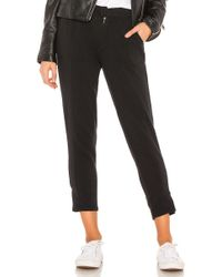 Chaser - Cotton Fleece Cigarette Pant In Black - Lyst
