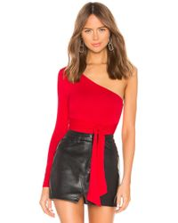 Lovers + Friends - Salma Bodysuit In Red - Lyst
