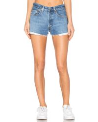 RE/DONE - Levis The Short In Blue - Lyst