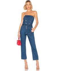 Bardot - Blue Jean Bustier Jumpsuit - Lyst