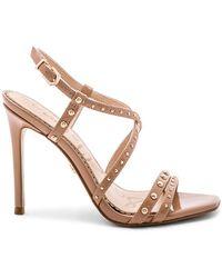 Sam Edelman - 'lennox' Stud Strappy Patent Sandals - Lyst