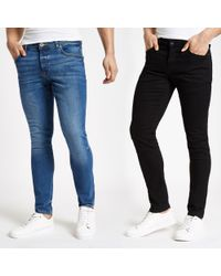 River Island - And Blue Sid Skinny Fit Jeans 2 Pack - Lyst