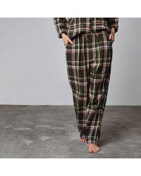 River Island | Green Design Forum Check Pyjama Trousers | Lyst