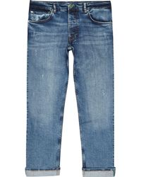 River Island - Pepe Jeans Blue Relaxed Callen Jeans - Lyst