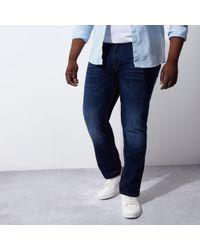 River Island - Big And Tall Dean Straight Leg Jeans - Lyst