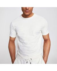 c531d790f River Island Blue Plain Chest Pocket T-shirt in Blue for Men - Lyst