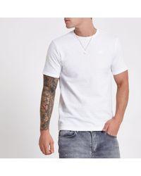 River Island - Jacquard Slim Fit T-shirt - Lyst