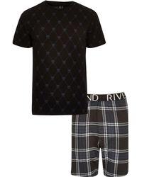 River Island - Panther Print Tartan Pyjama Set - Lyst