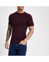5107df325a5c Lyst - River Island Navy T-shirt And Stripe Bottoms Lounge Set Navy ...