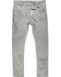 River Island | Grey Chester Skinny Tapered Jeans | Lyst