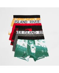 River Island - Photographic Print Trunks Multipack - Lyst