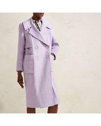 River Island - Lilac Purple Ri Studio Oversized Wool Coat - Lyst