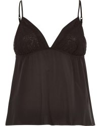 River Island - Black Lace Detail Cami Pyjama Top - Lyst