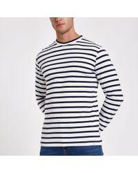 Minimum - Stripe Long Sleeve Top - Lyst