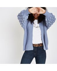 River Island - Bobble Knit Cardigan - Lyst