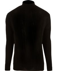 River Island - Black Muscle Roll Neck Sweater - Lyst