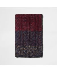 River Island - Cable Knit Ombre Knit Scarf - Lyst