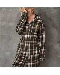 River Island | Green Design Forum Check Pyjama Shirt | Lyst