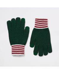 River Island - Knitted Cuffed Gloves - Lyst