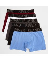 River Island - Multicolored Trunks Multipack - Lyst