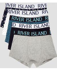 River Island - Purple geo print hipsters 5 pack - Lyst